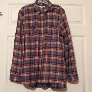 Madewell ex-boyfriend flannel shirt Wilder plaid